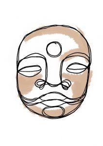logo, monsieur dhyani, créé par Louise Chevalier