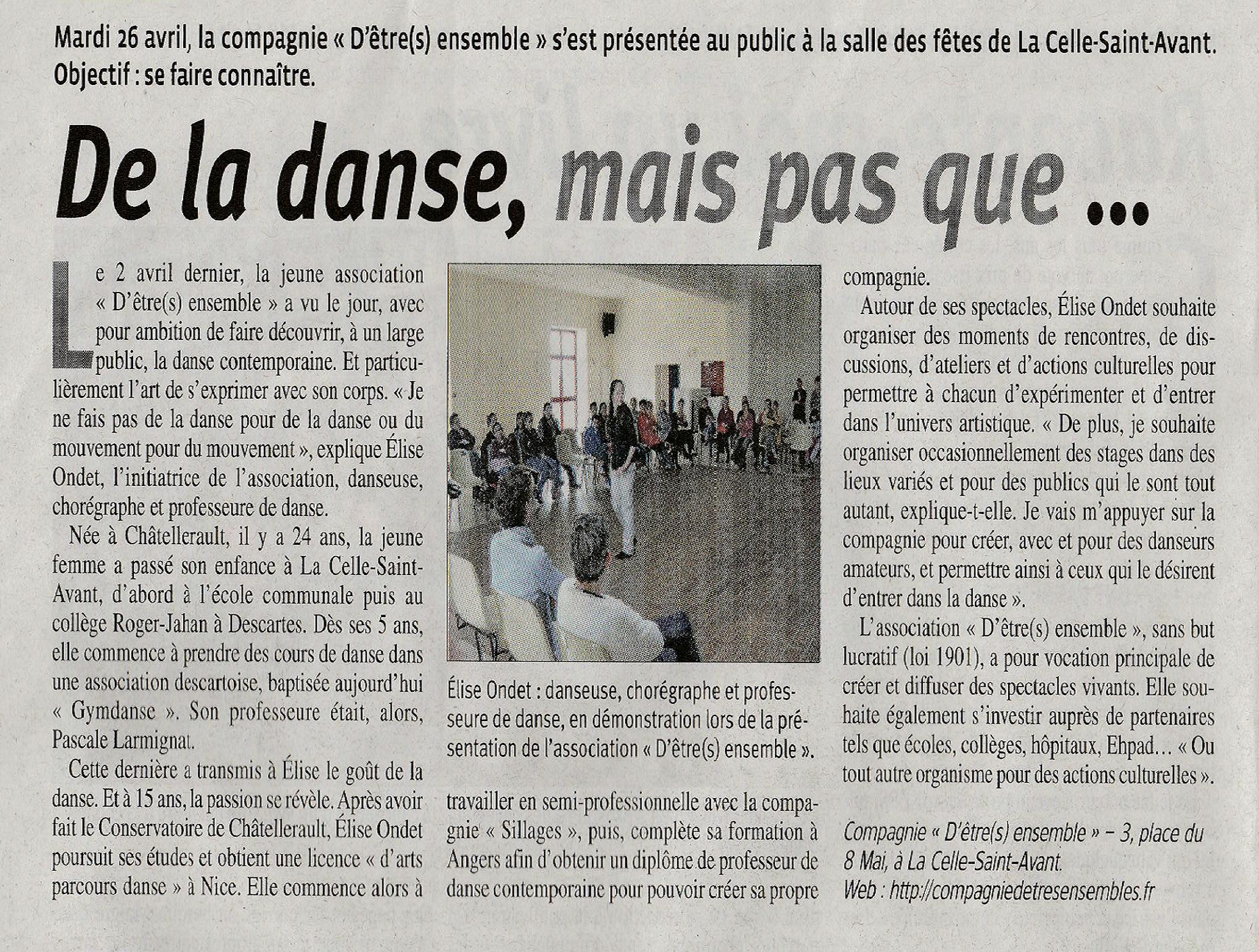 article renaissance lochoise 4 mai 2016